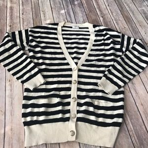 Madewell Wallace striped merino wool cardigan